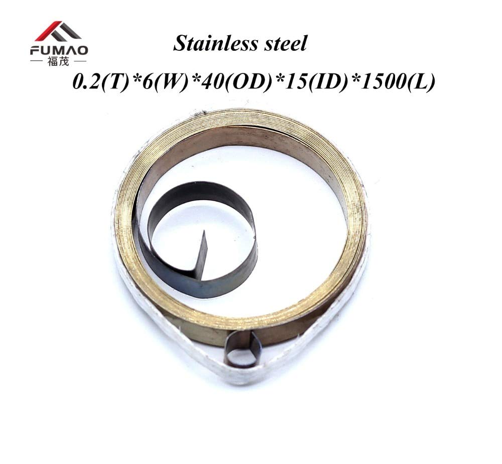 Jienie Hot sale stainless steel spiral flat wire coil spring constant force spring 0.2x10x30x2000mm - (Length: 0.2x11x56x2120mm)