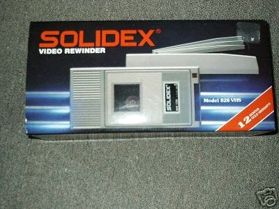 Solidex Video Rewinder VCR REWINDER by Solidex