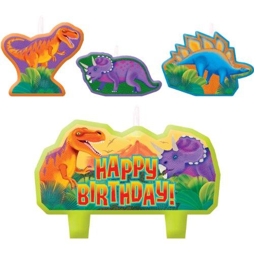 Prehistoric Party Birthday Candle Set]()