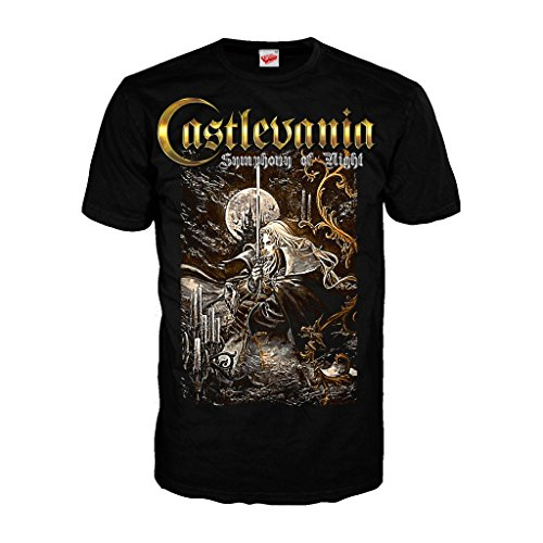 (Castlevania Symphony Box Art Official Men's T-Shirt (Black) (X-Large))
