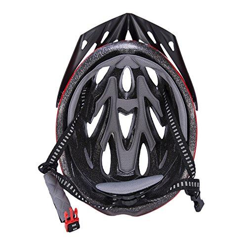 Babimax Cascos para Bicicleta con Buena Ventilación para Infantiles Casco para Monopatín al Aire Libre (Rojo, Negro)