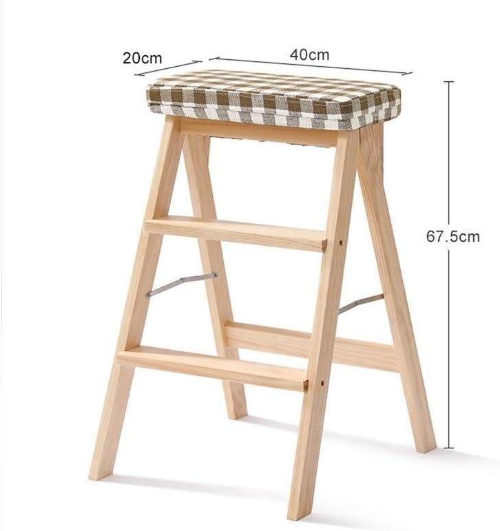 LY-Escalera Paso plegable taburete de cocina portátil Escabel Adult Home taburete de paso asiento de la silla madera for el hogar Solid 3 Escalera plegable (Color : Stripes): Amazon.es: Bricolaje y herramientas