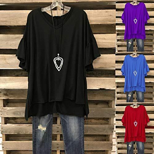 Manches Noir Courtes Manches XL Courtes S Violet dcontracte Bleu Femmes 3XL pour de Courtes Chemise 4XL samLIKE L M Manches et Club Noir Rouge Rose 5XL 2XL 1qfwvnFxY