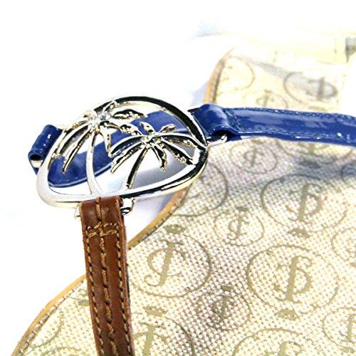 Pantallas planas o espacios Juicy Couture, con cierre de cremallera en, y pedrería para mujer. DE £95 marrón - Blue-Brown