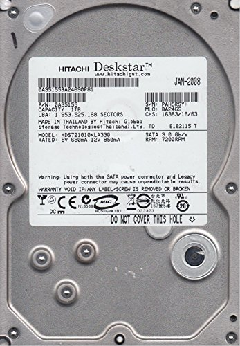 HDS721010KLA330, PN 0A35155, MLC BA2469, Hitachi 1TB SATA 3.5 Hard Drive