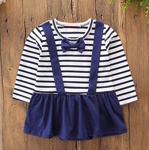 R/êveRose Baby Boys Girls Twins Clothes Newborn Brother Sister Striped Print Suspender Skirt Romper Bodysuit Set