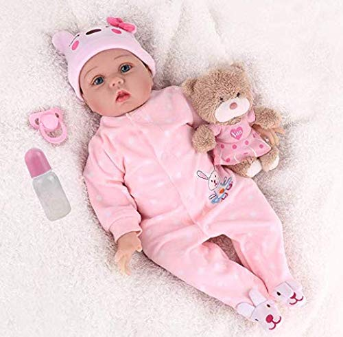 CHAREX Realistic Baby Doll, 22 Inches Real Baby Doll Reborn,Weighted Reborn Newborn Sleeping Doll
