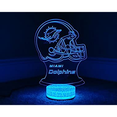 Miami Dolphins 3D LED Night Light 7 Color