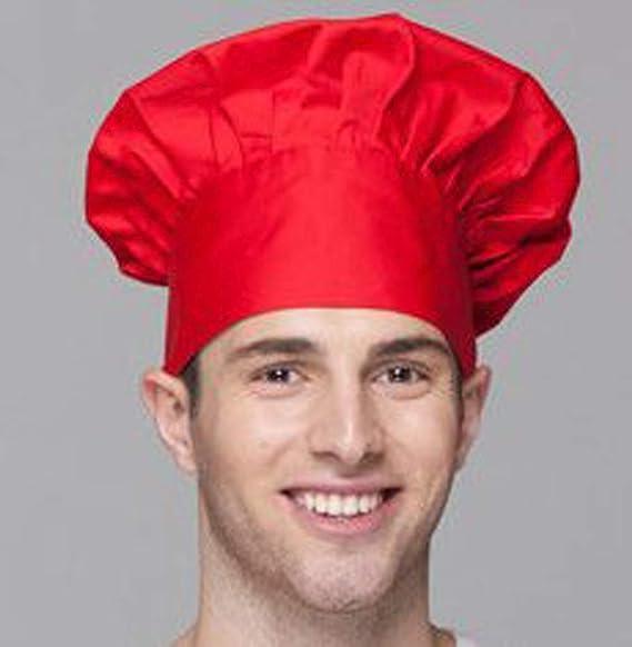 gorro de cocinero para ni/ños y adolescentes disfraz de fiesta Fumeepro Kitchen Supply Gorra ajustable el/ástica para catering adultos para cocinar reposter/ía y cocinero negro