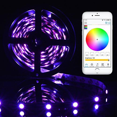 XCSOURCE Modifica flessibile di colore da 5 metri RGBW SMD5050 300 LED Kit di striscia leggera Utilizzo di Smartphone WiFi Controllo App con alimentazione LD998