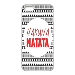 High Quality Phone Back Case Pattern Design 15Best Wishes - Hakuna Matata Quotes- For Apple Iphone 5 5S Cases