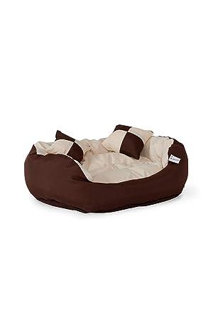 Cama para perros, Colchón para perros (65x50x20cm, marrón/beige): Amazon.es: Productos para mascotas
