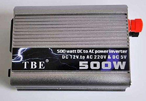 Transformador Corriente Coche Convertidor Inversor 500W 12V a 220V Batería USB: Amazon.es: Electrónica