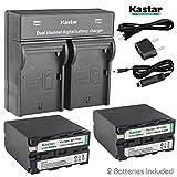 Kastar USB Dual Charger & NP-F990 Battery X2 7.2V 11600mAh for Sony NP-F975 NP-F970 NP-F960 NP-F950 NP-F930 NP-F770 NP-F750 NP-F730 NP-F570 NP-F550 NP-F530 NP-F330, Sony Camcorder and LED Video Light