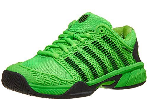 K-Swiss-Juniors` Hypercourt Express Tennis Shoes Neon Lime and Black (Size 7)