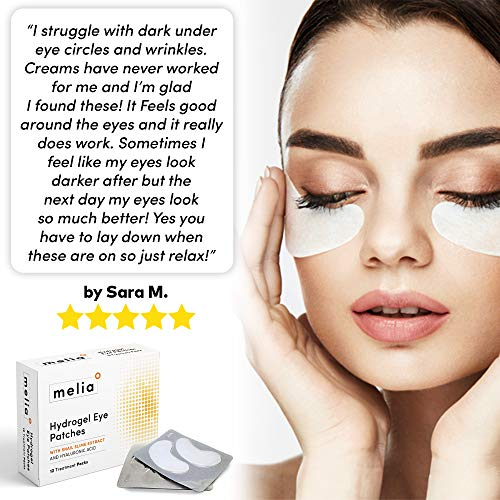 51OHsJEID4L - MELIA Under Eye Patches Eye Mask for Puffy Eyes, Dark Circles and Under Eye Bags Treatment With Hyaluronic Acid and Snail Slime Extract