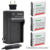 Kastar 3x Battery + Charger for Casio NP-40 LB-060 & Casio Exilim EX-Z1000 EX-Z1050 EX-Z1080 EX-Z1200 EX-Z700 EX-Z750 EX-Z850 EX-FC100 FC150 FC160S Z400 PRO P505 P600 P700 ZOOM Z100 Z1000 Pentax XG-1