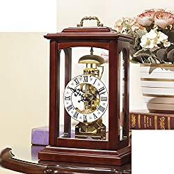 Maple Leaf Chinese Restaurant mechanical clocks/ Chinese-style wooden table clock/ living room clocks/Creative continental time clock/ antique clock ornaments-A