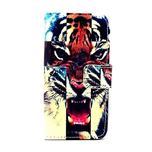 Monkey Cases® iPhone 6 Plus 5,5 Zoll - Flip Case - TIGER - Matt - Premium - original - neu - Tasche