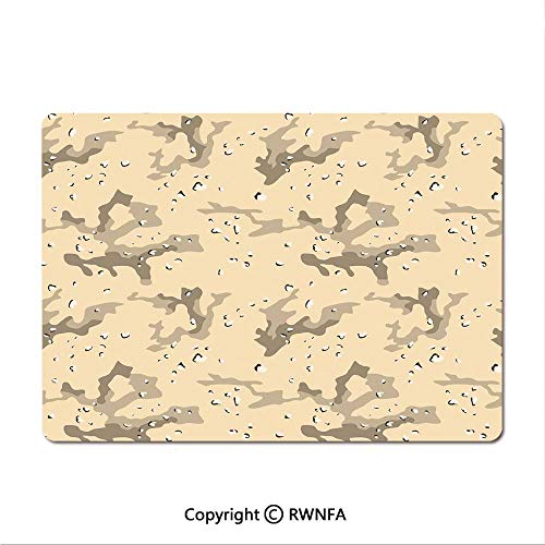 Non-Slip Rubber Base Mouse pad US Armed Forces Background Hiding in The Desert Theme Design(9.8