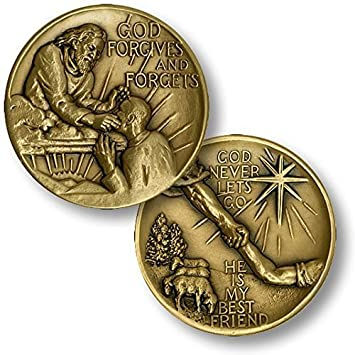 God Forgives And Forgets Challenge Coin