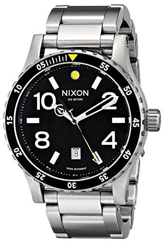 Nixon Men's A277000 Diplomat SS Analog Display Swiss Quartz Silver (Ss Analog Watch)