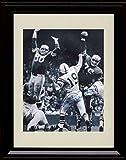 Framed Johnny Unitas Autograph Replica Print - Baltimore Colts