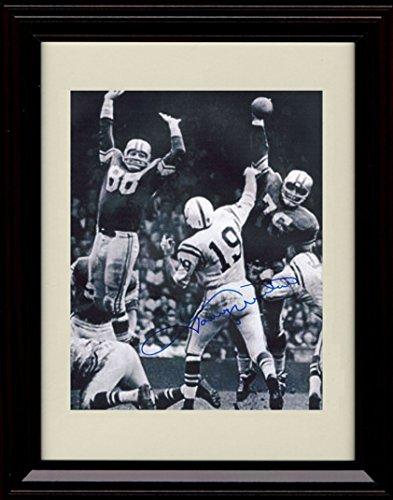 (Framed Johnny Unitas Autograph Replica Print - Baltimore Colts)