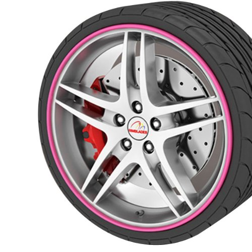 GoBadges RB03 Pink Rim Blade, (Set of 4)