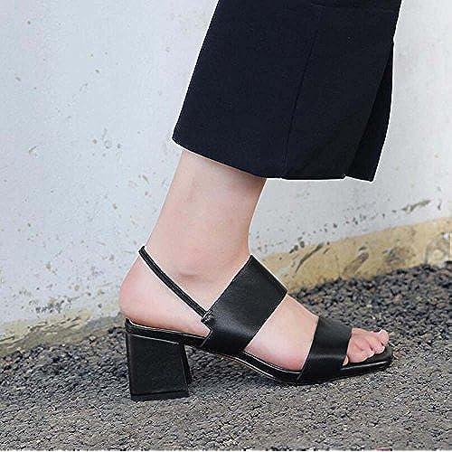 3b308918 De alta calidad Zapatos de Mujer Versión Coreana del Verano Nuevo Estilo de  Cuero Sandalias de
