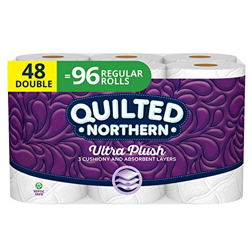 Cheap Tissue Paper (Quilted Northern Ultra Plush Toilet Paper, 48 Double Rolls, 48 = 96 Regular Rolls, 3 Ply Bath Tissue, 4 Pack of 12)