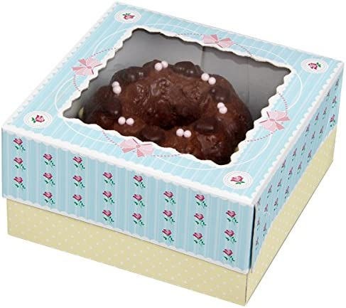 rosa//Creme//blau 16 x 16 x 2 cm Zenker Muffinboxen 16x16x8cm 2er-Set aus Papier