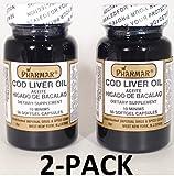 Aceite De Higado De Bacalao Capsules 2 x 50's (100 softgels Total) Cod Liver Oil 2-PACK Review