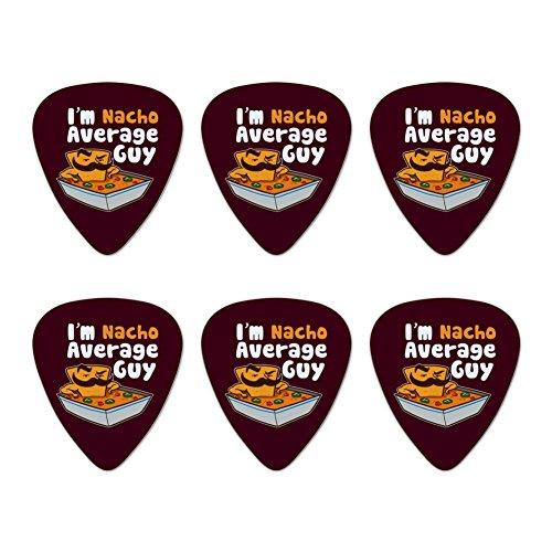 I'm Nacho Average Guy Chip with Mustache Funny Novelty Guitar Picks Medium Gauge - Set of 6 ()