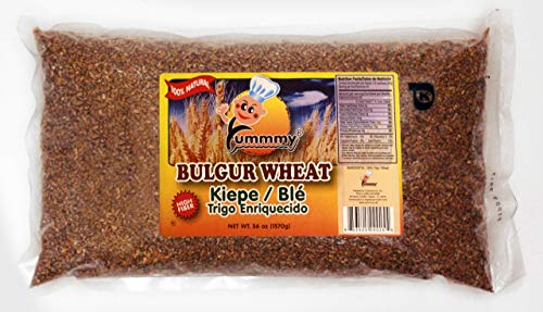 Yummmy Bulgur Wheat Craked 56 Oz, High in Fiber, Kosher Certified, All Natural (Cracked Flour Wheat)