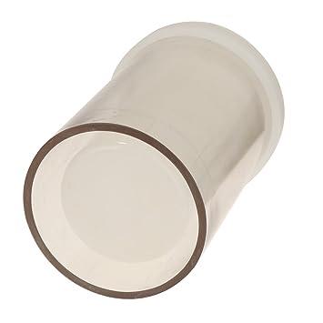 D DOLITY Molde de Velas Creativos de Plástico Forma Cilindro Utensilios de Decoración para Repostería Duradero de Usar - Claro, 75x127 mm: Amazon.es: Hogar
