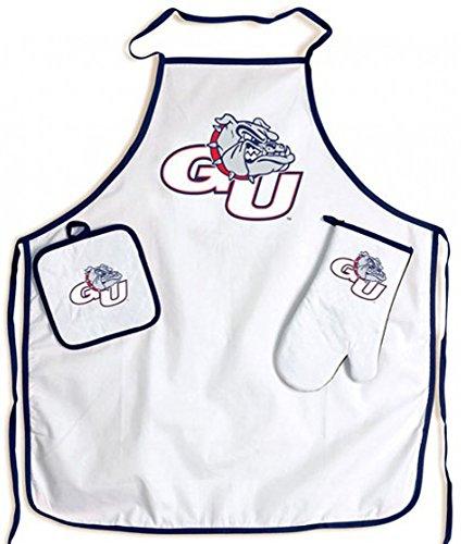 NCAA Gonzaga University Bulldogs Barbecue Tailgate Apron Set