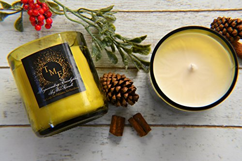 Rejuvenating Eucalyptus Aromatherapy 100% Soy Wax Candle, Hand poured into Recycled Wine Bottles with Lead Free Cotton Wicks. Made in Washington by Tiger Mountain Farms