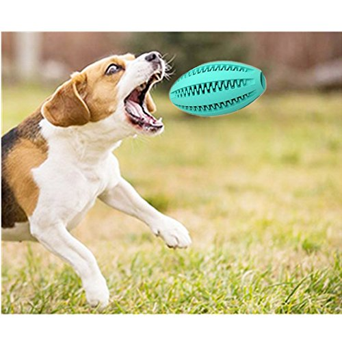 Dog\'s Chew Toy Dogs Durable Non-Toxic Strong Toothes Cleaning/Training/Playing/Chewing,Soft Rubber,Bouncy, Rugby Ball Rubber Pet Dog Cat Exercise and Reward Toy