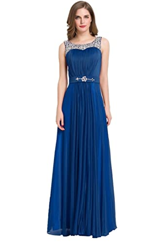 Beauty-Emily Womens Long Mermaid Evening Dresses Beaded Formal Prom Party Cocktail Wedding Guest Gow...