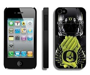 Beautiful And Unique Designed Case For iPhone 4 With Oregon Ducks 03 Black Phone Case