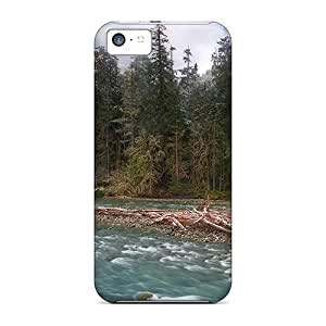 linJUN FENGipod touch 5 Cases Covers Fabulous Foggy Riverscape Cases - Eco-friendly Packaging