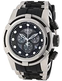 Invicta Men's 0827 Bolt Reserve Chronograph Black Mother-of-Pearl Dial Black Polyurethane Watch