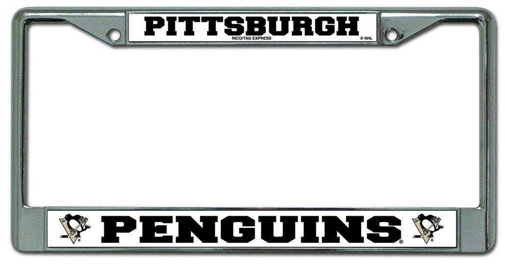 Amazon.com : Pittsburgh Penguins Chrome License Plate Frame : Sports ...