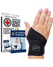 Doctor Developed Premium Copper Lined Wrist Support/Wrist Brace/Hand Support/Strap [single] & Doctor Handbook— Relieve Wrist Injuries, Arthritis, Sprains
