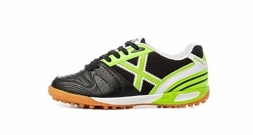 Munich - Zapatillas de fútbol sala de Piel para niño: Amazon.es: Zapatos y complementos