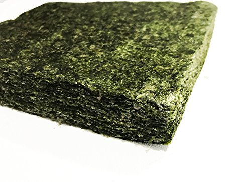 Bulk Green Seaweed for Fish - Extra Large Sheets (5.10 Oz Approx.) - Stays Intact Longer ()
