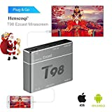 Screen Mirroring,T98 EZcast USB to HD Converter S8 Pro Plug&Play HD/VGA Converter for iPhone/ Android Gray