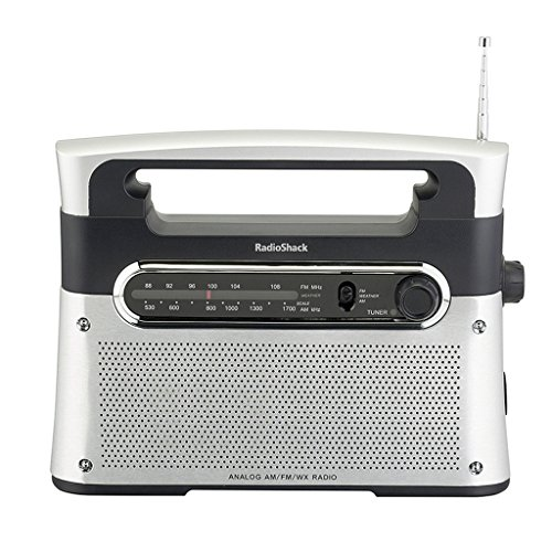 Radioshack Portable Analog Tuning Am Fm Weather Tabletop Radio