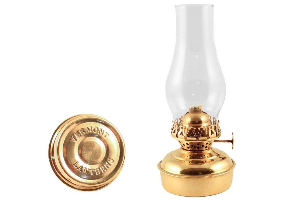 Vermont Lanterns Brass Mini XL 7'' - Small Oil Lamp (Brass) by Vermont Lanterns (Image #1)